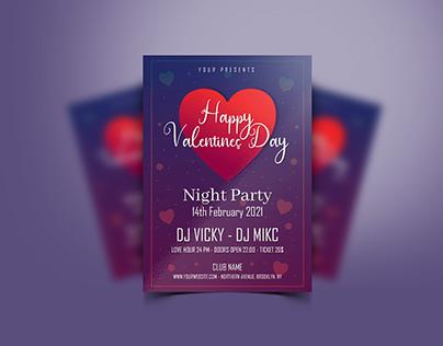 Happy Valentine's Day Poster Design - FREE
