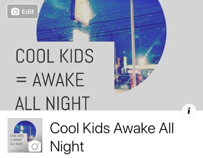 Cool Kids Awake All Night