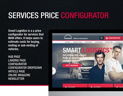 MAN Logistic Services Price Confirurator Microsite