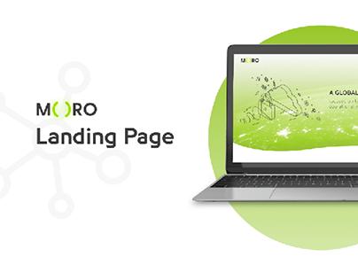 MORO || Landing Page