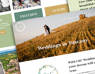 C&C Weddings in Tuscany. Sito internet