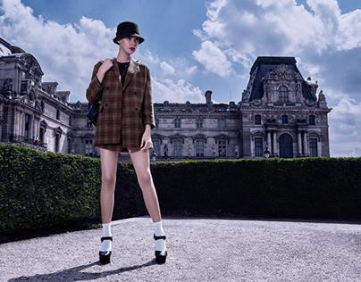 English girl in Paris