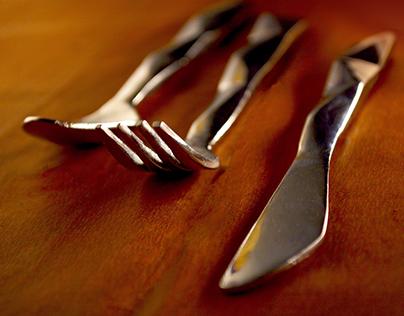 Al-Trio: Sand-casted Cutlery