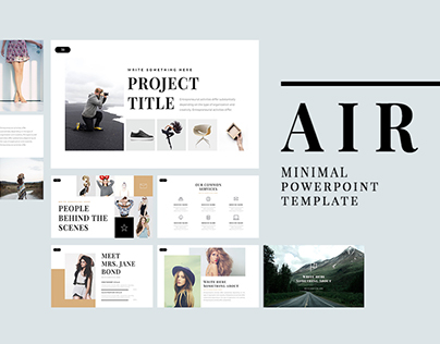 Air free minimal powerpoint template on behance toneelgroepblik Image collections