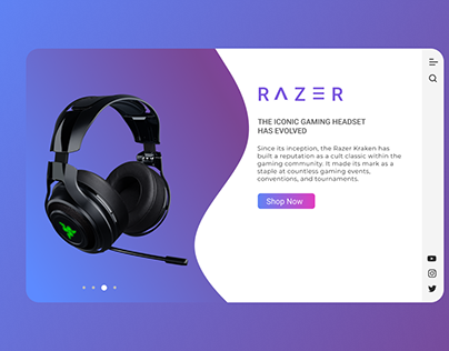 Headphone Web Design