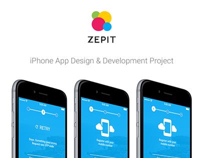 Zepit - iPhone App Design & Development Project