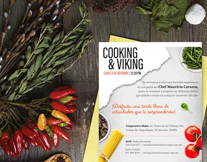Invitación a elaborar platillos guiados por Chef VIP