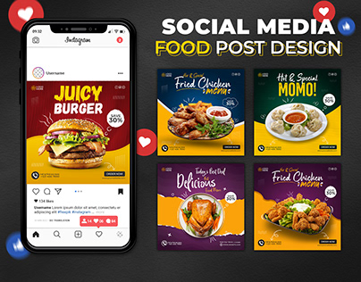 Fast Food Social Media Post