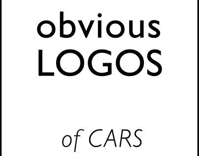 Letters created from car logos