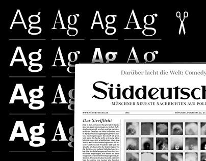 Custom Typefaces for Süddeutsche Zeitung