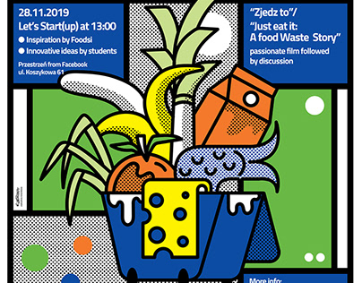 Poster for the European agenda of EIT Food