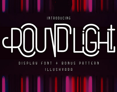 FREE | Round Light Display Font