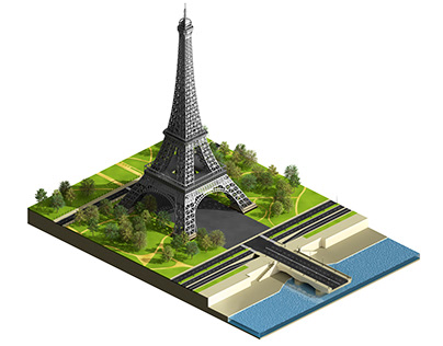 Eiffel Tower Isometric