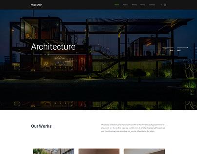 River&Rain - Minimal Architecture Web Design
