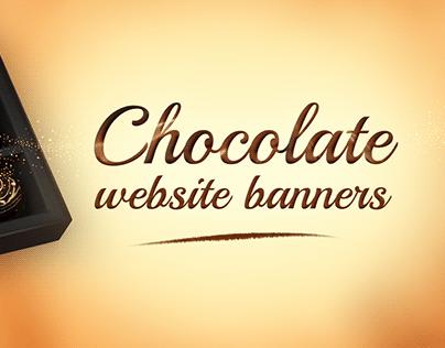 Chocolate website banner