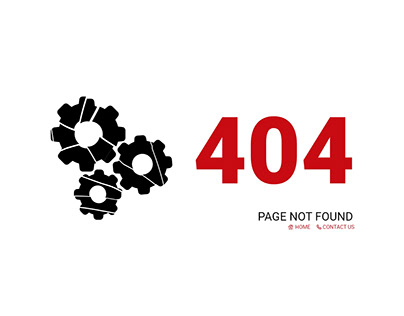 404 Error Page Web Design Technical Gear