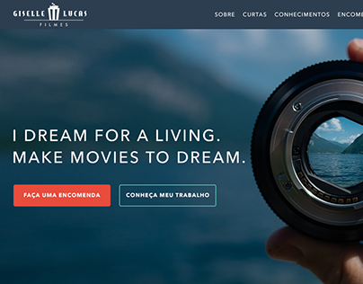 Giselle Lucas Films Website - Interface Design