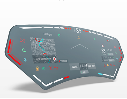 HUDie Head-up smart visor interface