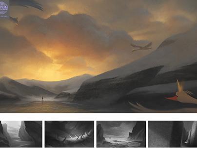 Wild Swans - visual development
