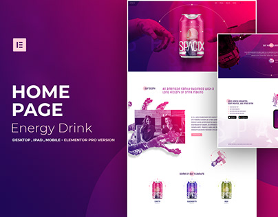 Energy Drink - Elementor Pro Layout