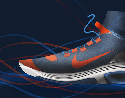 Nike running shoe design