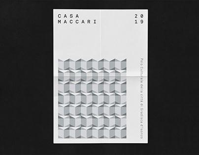 CASA MACCARI Cultural Center Identity