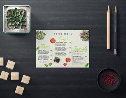 Creative food menu template