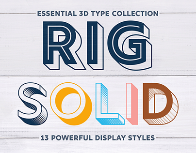 Rig Solid – 3D Type Collection