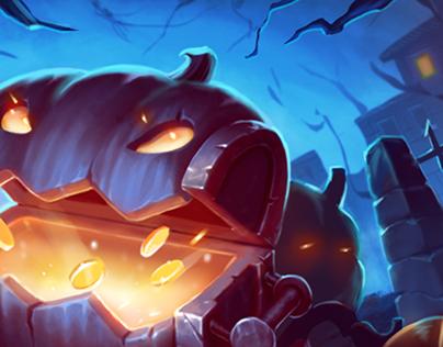 Illustration for celebrating Halloween