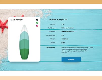 Surfboard E-Commerce website.