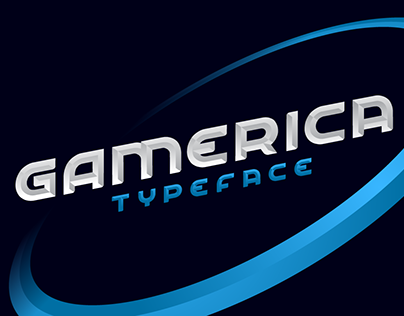 Gamerica Font with 3D Effect