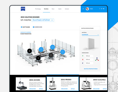 Carl Zeiss web - metrology portal