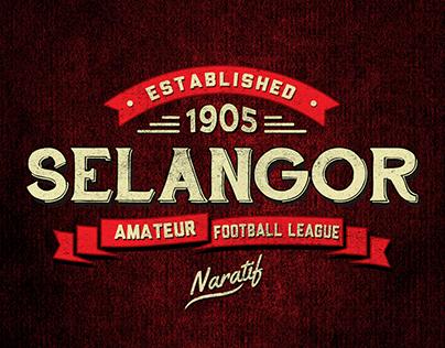 Selangor Amateur Football League Vintage Logo