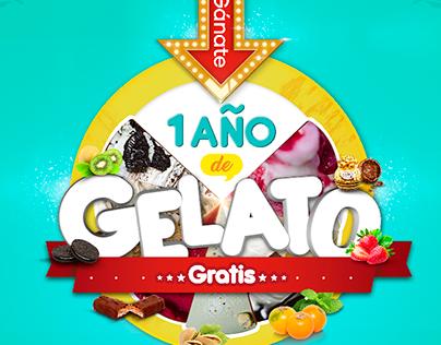 campaña año gratis de gelato