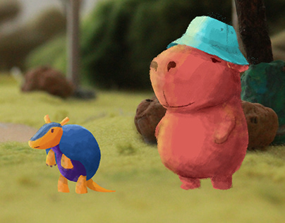 The armadillo & the capybara | interactive e.book