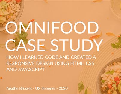 Omnifood Case study HTML/CSS