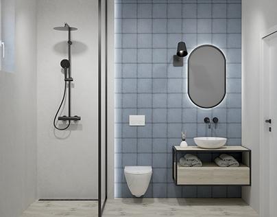 Simple bathroom #microcret #wood #concrete