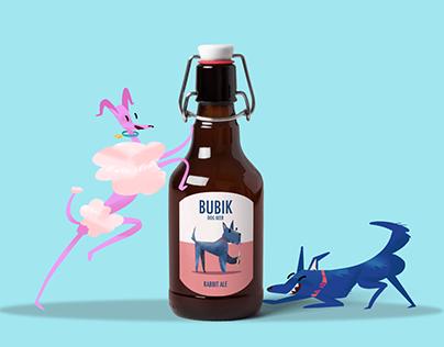 Bubik. Illustrations for dog beer brand