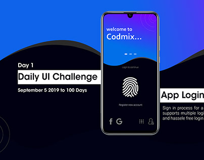 Login Interface Design - DailyUI Challenge 1
