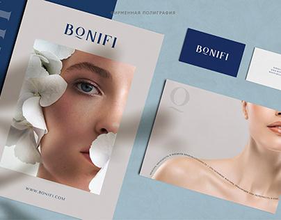 """Фирменный стиль для косметологической студии """"BONIFI"""""""