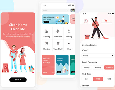 Home Cleaning Service Mobile App