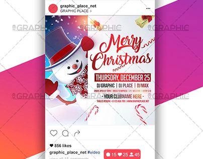 Merry Xmas - Animated Flyer PSD Template