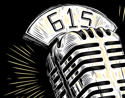 Vintage Microphone - Project 615 Illustration