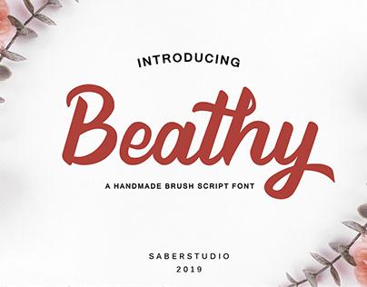 Beathy Script Font