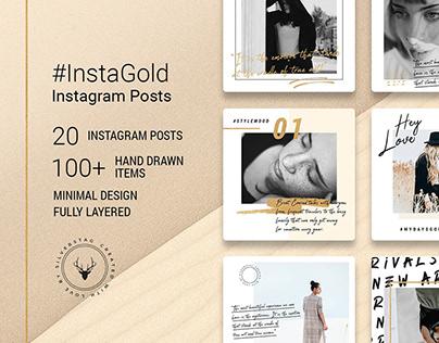 InstaGold Minimal Instagram Posts