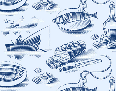 Pattern for a herring package
