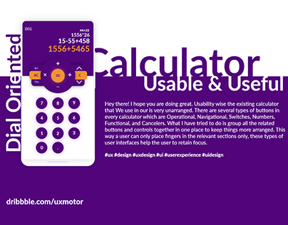 Dial Oriented Calculator