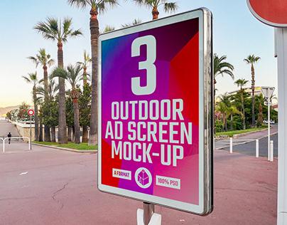 Outdoor Advertising Screen Mock-Ups 6 (v.1)