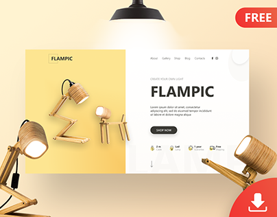 Flampic First screen\Free download\Figma\UI\Landing