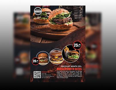 Flyer for burger restaurant